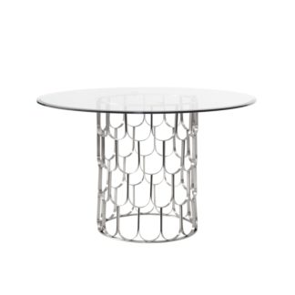 An Image of Pino Silver Dining Table