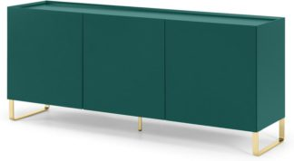 An Image of Lenny Painted Sideboard, Green & Brass