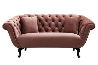 An Image of Ramona Two Seat Sofa - Blush Pink