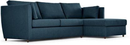 An Image of Milner Right Hand Facing Corner Storage Sofa Bed with Foam Mattress, Arctic Blue