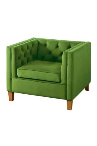 An Image of Miasto Armchair Emerald Green Velvet