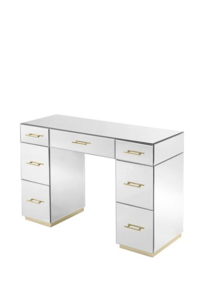 An Image of Harper Dressing Table – Champagne Gold Details
