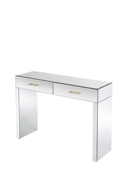 An Image of Harper Console Table – Champagne Gold Details