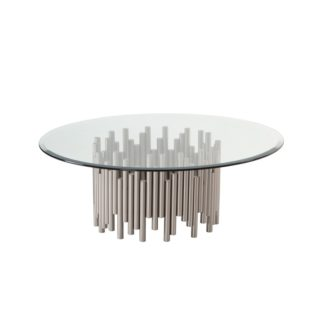 An Image of Rubell Silver Coffee Table