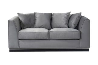 An Image of Pino Two Seat Sofa - Dove Grey - Silver Base