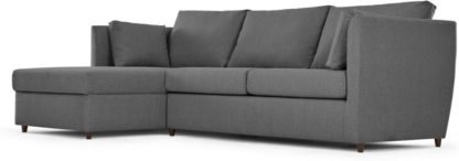 An Image of Milner Left Hand Facing Corner Storage Sofa Bed with Memory Foam Mattress, Night Grey