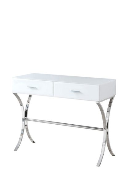 An Image of Aurelia White Glass Dressing Console