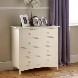 An Image of Cameo Stone White 3 + 2 Drawer Chest