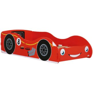 An Image of Red Racing Car Children's Toddler Bed Frame - 70 x 140 cm