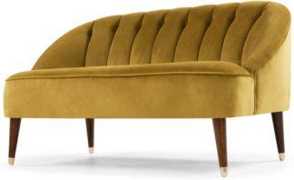 An Image of Margot 2 Seater Sofa, Antique Gold Velvet