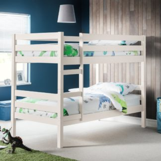 An Image of Camden White Wooden Bunk Bed Frame - 3ft Single
