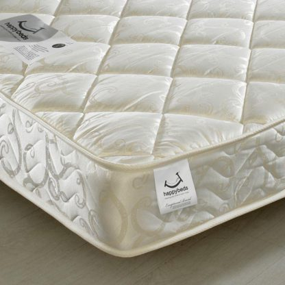 An Image of Eclipse Pocket Sprung 800 Quilted Fabric Mattress - 2ft6 Small Single (75 x 190 cm)