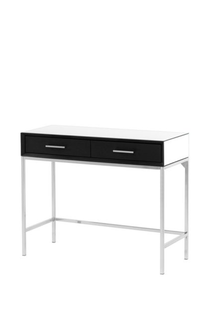 An Image of Trio Black Console Table