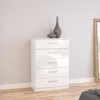 An Image of Lynx 5 Drawer Chest White
