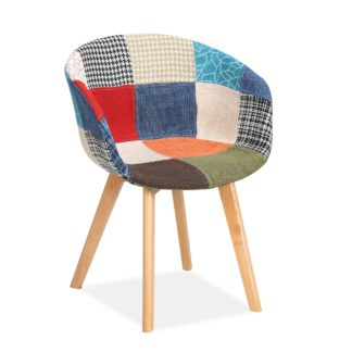 An Image of Whittaker Multi-Coloured Patchwork Fabric Chair