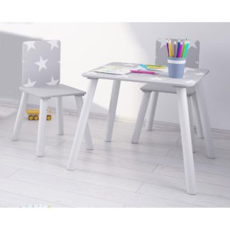 An Image of Star Grey and White Table and Chairs