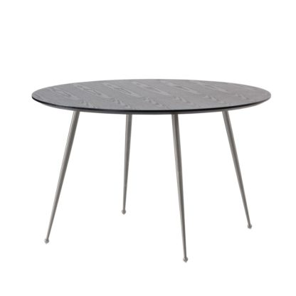 An Image of Mason Dining Table – Brushed Silver Legs
