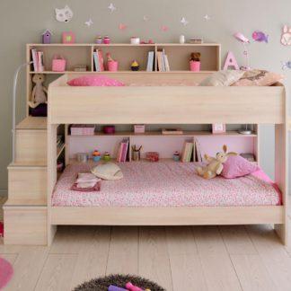 An Image of Bibop Acacia Wooden Bunk Bed Frame - EU Single