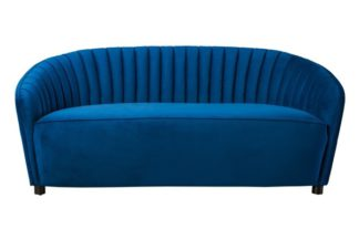 An Image of Alice Two Seat Sofa - Navy Blue