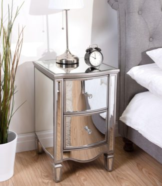 An Image of Elysee Mirrored 2 Drawer Bedside Table