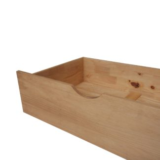 An Image of Waxed Pine Underbed Storage Drawers - Pair