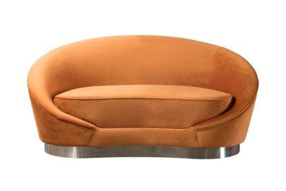 An Image of Selini Two Seat Sofa - Pumpkin
