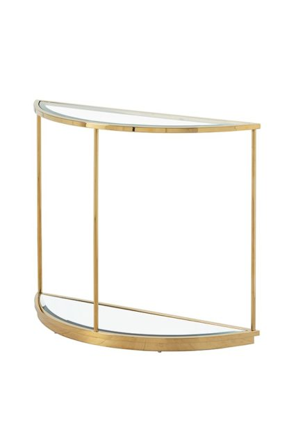 An Image of Rippon Brass Curved Console Table