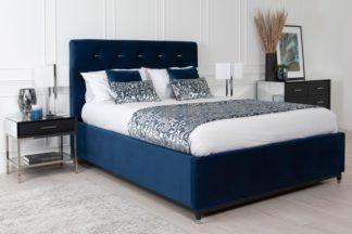 An Image of Bonn Storage Bed Royal Blue