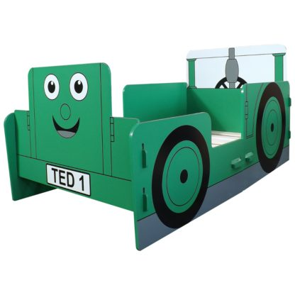 An Image of Tractor Ted Green Junior Toddler Bed Frame - 70 x 140 cm