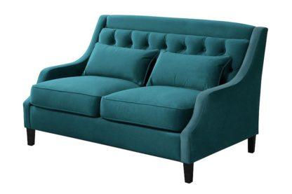 An Image of Zeno 2 seat Sofa Opulence Teal