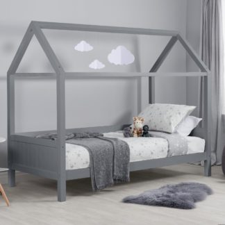 An Image of Home Grey Wooden Treehouse Bed Frame - 3ft Single