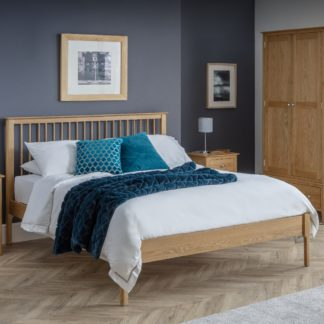 An Image of Cotswold Oak Wooden Bed Frame Only - 5ft King Size