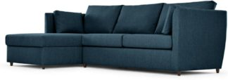 An Image of Milner Left Hand Facing Corner Storage Sofa Bed with Foam Mattress, Arctic Blue