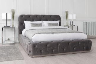 An Image of Frankfurt Storage Bed Grey