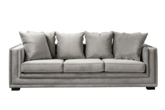 An Image of Holburn Three Seat Sofa - Dove Grey