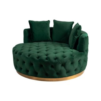 An Image of Frankfurt Loveseat - Bottle Green