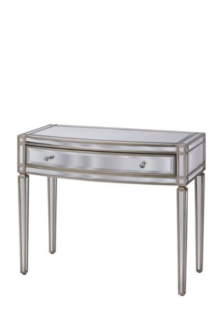 An Image of Antoinette Toughened Mirror One drawer Console Table