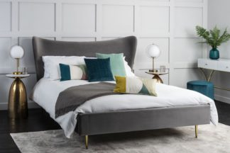 An Image of Tretton Deluxe Bed Grey