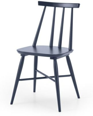 An Image of Bromley Dining Chair, Deep Navy