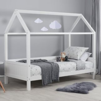 An Image of Home White Wooden Treehouse Bed Frame - 3ft Single