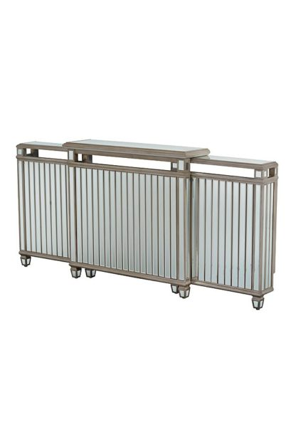 An Image of Antoinette Adjustable, Mirrored Radiator Cover