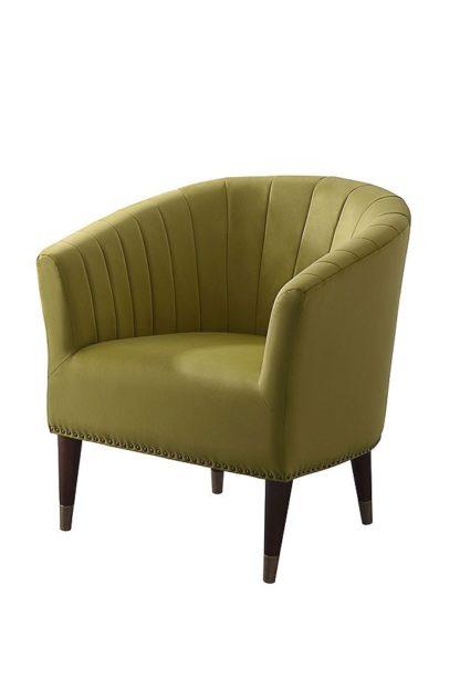An Image of Bellini Armchair Olive Velvet