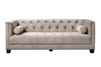 An Image of Bankes Three Seat Sofa - Taupe