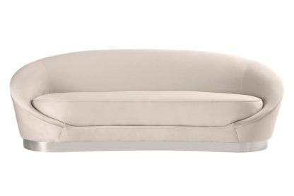 An Image of Selini Three Seat Sofa - Chalk