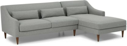 An Image of Herton Right Hand Facing Chaise End Sofa, Mountain Grey