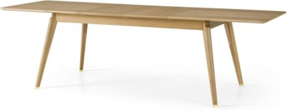 An Image of Albers 6-12 Seat Extending Dining Table, Oak