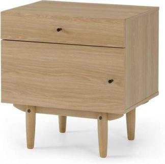 An Image of Asger Bedside Table, Oak Effect