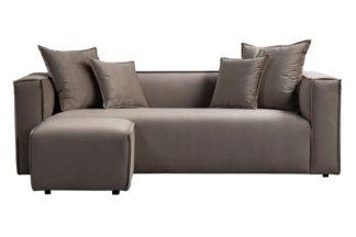 An Image of Max Three Seat Corner Sofa - Taupe