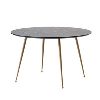 An Image of Mason Dining Table – Brushed Gold Legs