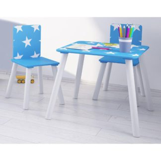 An Image of Star Blue and White Table and Chairs